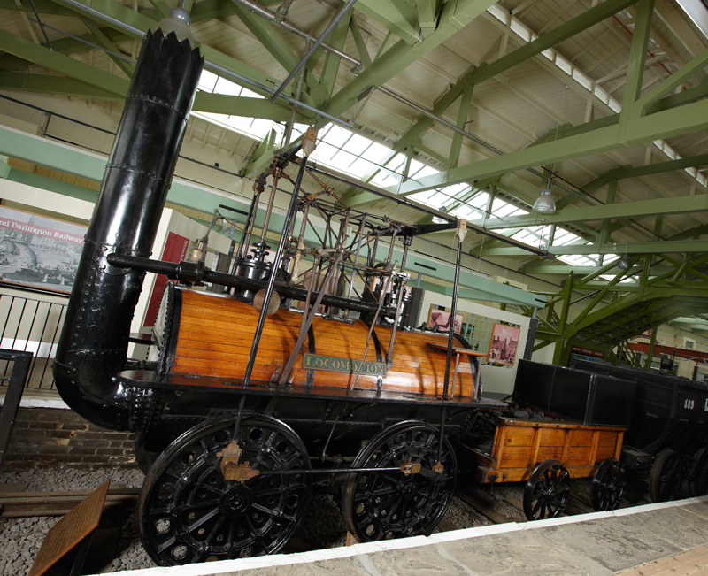 © Image courtesy of Head of Steam – Darlington Railway Museum . Locomotion No.1 is on loan from the National Railway Museum .
